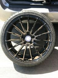 ZITO ZS 15 RIMS WITH TWO FRONT TIRES INCLUDED. SHINY BLACK
