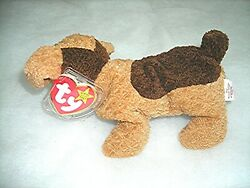 Collectible Ty TUFFY Beanie Baby Brown Terrier Dog 1996