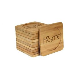 Engraved Bamboo Coasters - Home W/ State - Style 2 - Square