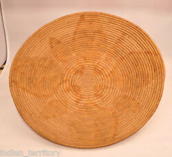 Californian Mission Basket With Floral Motif C.1900 By Kumeyaay 2 1/2 X 12