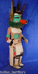 Hopi Very Large Early Hunter Kachina C.1940 19 Or 23 With Feathers