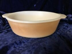 Anchor Hocking Fire King Peach Luster Copper Tint Ovenware Casserole Oval 1½qt
