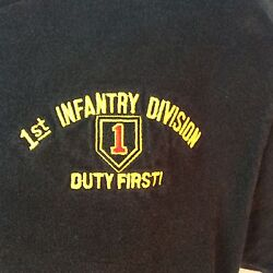 1st Infantry Division Duty First T Shirt Size M Embroidered Black Ships Free