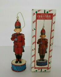 House Of Lloyd Musical Drummer Soldier Christmas Decoration Ornament 3 Songs