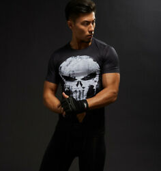 Hot Sale 3D Printed Marvel Punisher Skull T-shirt Men Summer Fashion Short