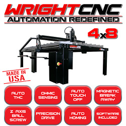 Wright CNC 4X8 LIGHT INDUSTRIAL PLASMA TABLE (MADE IN THE USA)