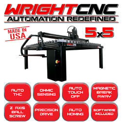 WRIGHT CNC 5x5 LIGHT INDUSTRIAL PLASMA TABLE (MADE IN THE USA)