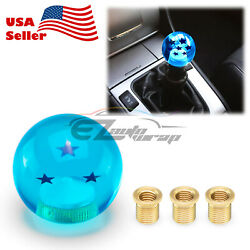 Universal Blue Dragon Ball Z 3 Star 54mm Shift Knob With Adapters Fit Most Cars
