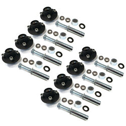 Pack Of 8 Trailer Axle Kit With Hubs Spindles Grease Seals Caps And Bearings