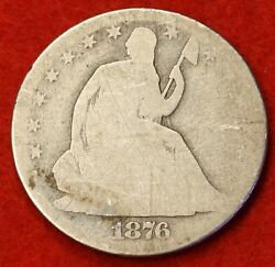 1876-p Seated Liberty Half Dollar Ag Silver Nice Coin Check Out Store Sh33
