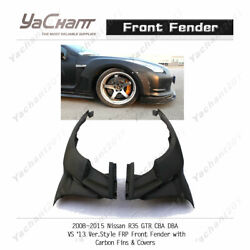 Pcf Kit For 08-15 Nissan R35 Gtr Vs And03913 Frp Front Fender W/ Carbon Fin And Cover