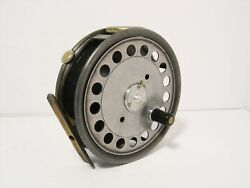 Vintage Rare Hardy St George 3 3/4 Silent Check Fly Fishing Reel - Retains Well