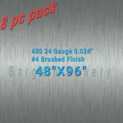 8pc 48 X 96 430 Stainless Steel Sheet Wall Covering 24 Gauge 0.024