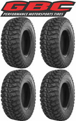 4 Gbc Mongrel 25x8-12 Front And 25x10-12 Rear - 10-ply Radial Complete Tire Set