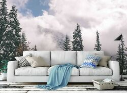 3d Pine Tree Cloud Sky Self-adhesive Removable Wallpaper Feature Wall Mural 116