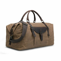 Men Women Wax Oil Canvas Luggage Shoulder Bag Travel Bag Daypack Waterproof Fold