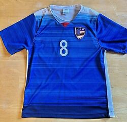 A Clint Dempsey Nike Authentic Usa Soccer Away Jersey Size 8-10 Youth