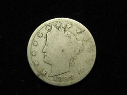 Semi Key Date 1888 Liberty V Nickel In Good Collectible Condition 210v