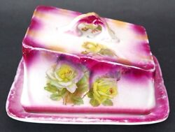 Stunning Antique 1800's Bayle Murray Bm Co Porcelain Covered Butter Cheese Dish