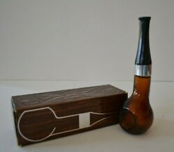 Vintage Avon Pipe Full After Shave Bottle Decanter #6 Empty in Original Box