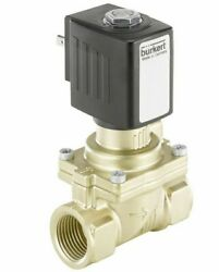 Burkert 2/2 NORMALLY CLOSED SOLENOID VALVE 40mm 24V AC Coupled, 0.2-16 Bar