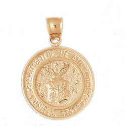 New Real Solid 14k Gold Usa Dept Of The Air Force Medallion
