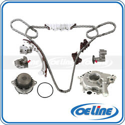 Timing Chain Kit Oil Water Pump Set For 01-04 Nissan Pathfinder Infiniti Qx4 3.5
