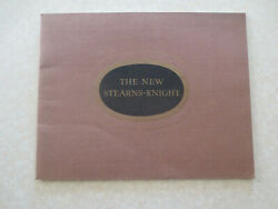 Original 1920s Stearns-knight Automobile Advertising Booklet