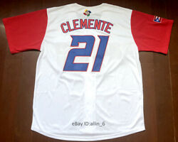 Retro 21 Roberto Clemente Puerto Rico Menand039s Baseball Jersey Stitched