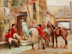 After The Hunt Fox Hunting Canvas Traditional Wall Art Poster Print Dogs Horses