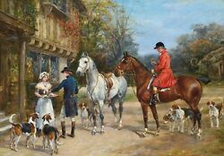 A Toast Before The Hunt Fox Hunting Traditional Canvas Wall Art Poster Print