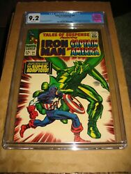 Tales Of Suspense 84 Cgc 9.2 Marvelcaptain America White Pages