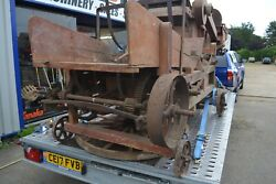 Antique Czechoslovakian Single String Baler Thresher Small Wooden In Good Condit