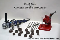 Valve Seat Grinder Complete Kit Heavy Duty All In One Black And Decker Style
