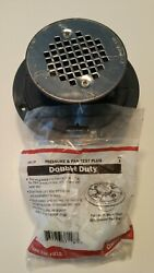 Sioux Chief 821-t200p 2 In. Pvc Shower Pan Drain With Pressure And Pan Test Plug