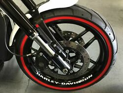 Harley Davidson V Rod Front Wheel High Quality Decals Stickers