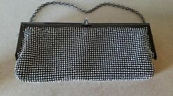 Natasha Rhinestone Gunmetal Silver Evening Clutch Bag NWT NICE $20.00