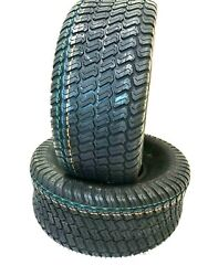 Two New Tires 18 6.50 8 Lawn Mower Turf Tractor Tires 18x6.50-8 Heavy Duty