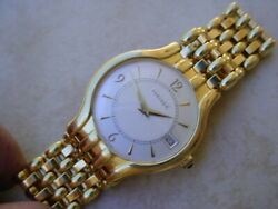 Concord Veneto 18K Yellow Gold Case & Bracelet Watch. 101.8 Grams.