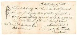 1780 Payment For Signing Pa Colonial Currency Revolutionary War Philadelphia