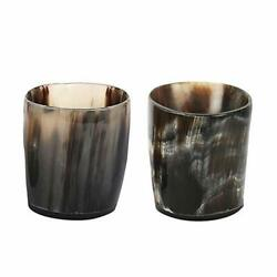 Buddha4all Natural Genuine Buffalo Horn Shot Glass For Beer Wine Drinking Glass
