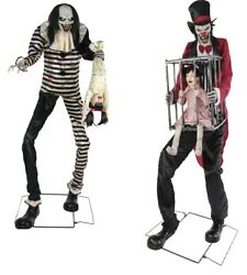 Halloween Animated Towering Sweet Dreams And Rotten Ringmaster Prop Haunted House