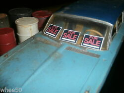 3 small FOR SALE GARAGE DIORAMA SIGNS 1:24 or 1:25 SCALE MODEL $3.00