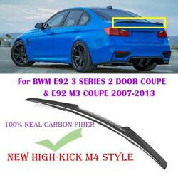 M4 Style High Kick Trunk Spoiler For Bmw E92 Coupe M3 3 Series 328i 335i 2007-13