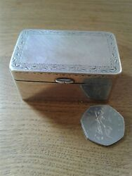 Antique George Iii Massive Unmarkedtest's As Silver Table Nutmeg Grater C1780
