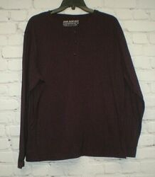 John Bartlett Consensus Mens Size Large Maroon Black Tri Blend Long Sleeve Shirt $12.99