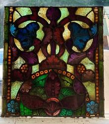 Great Antique Mayer Of Munich Stained Glass Window From A Closed Church - Jj314