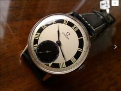 Omega 2318 Two Tone Dial Cal 30.t2 Hand Wind Wistwatch Running
