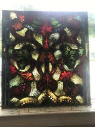 Great Antique Mayer Of Munich Stained Glass Window From A Closed Church -aa