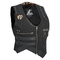 Nos Speed And Strength 878889 Iron Mistress Vest Black Size Womans Med
